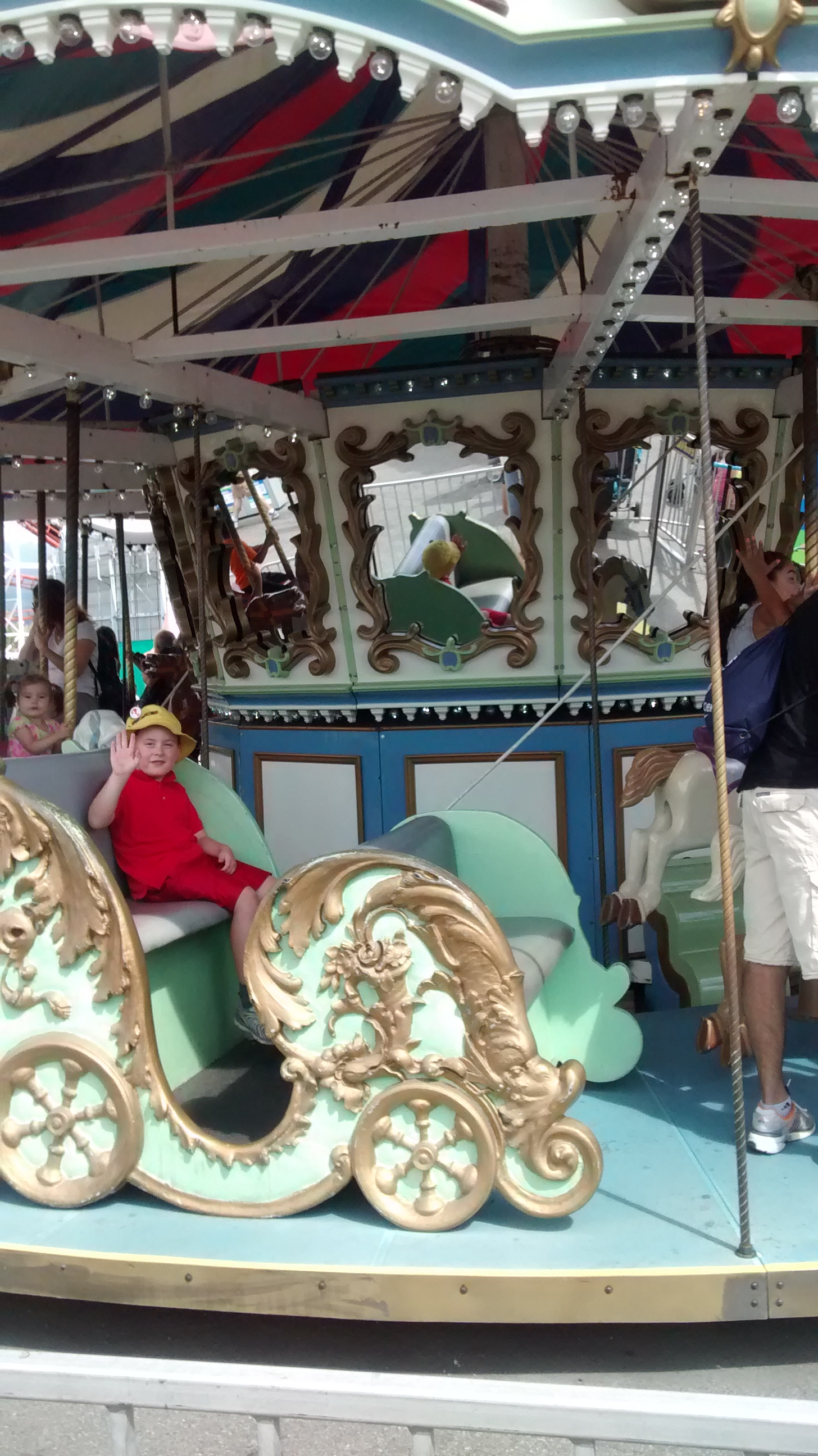Oh hello I am on a carousel.